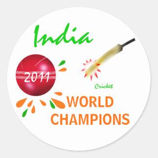 India 2011 ICC Cricket World Cup Champions Sticker