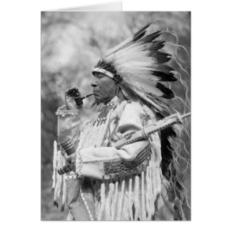 Indian Chief Whirlwind Soldier, 1925 Greeting Card