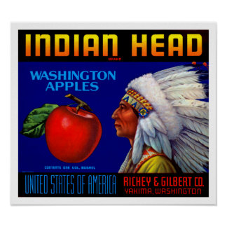 Indian Head Washington Apples Poster