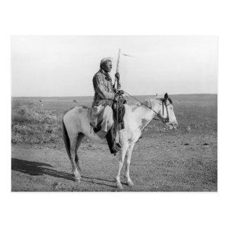Indian on Horseback, 1907 Postcard