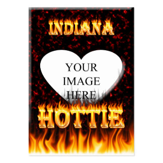 Indiana Hottie fire and red marble heart. Pack Of Chubby Business Cards