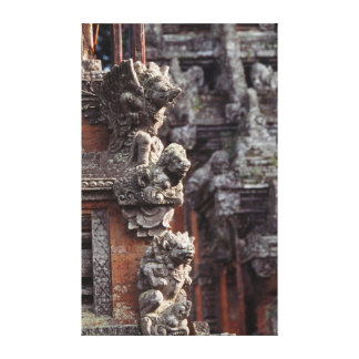 Indonesia, Bali, Ubud, Stone carvings of Hindu Gallery Wrap Canvas