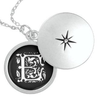 Initial D Custom Sterling Silver Round Locket