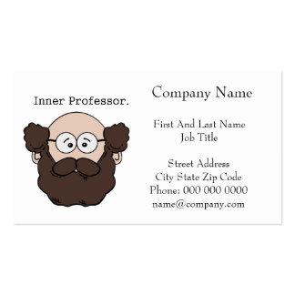 Inner Professor Bearded Teacher Cartoon Pack Of Standard Business Cards