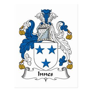 Innes Family Crest Postcard