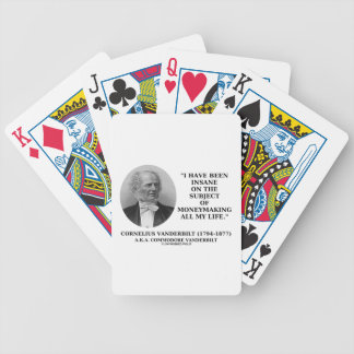 Insane On The Subject Of Moneymaking Quote Deck Of Cards