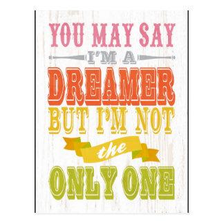 Inspirational Art - I'm Not a Dreamer. Postcard