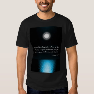 Inspirational Bible Scripture Let Your Light Shine Tees