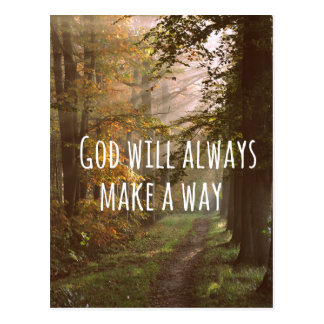 Inspirational Christian Quote: God Will Postcard