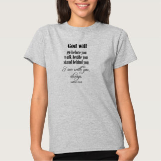 Inspirational God Will Quote with Bible Verse T-shirt