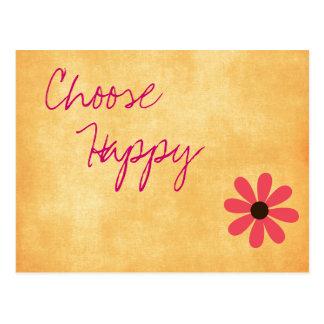 Inspirational Happy Message Postcard