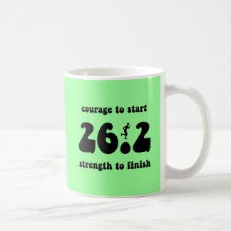 Inspirational marathon basic white mug