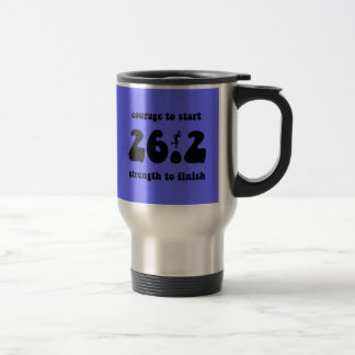 Inspirational marathon stainless steel travel mug