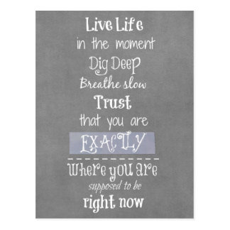Inspirational Quote Postcard