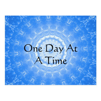 inspirational Spiritual Quote - One Day at a Time Postcard