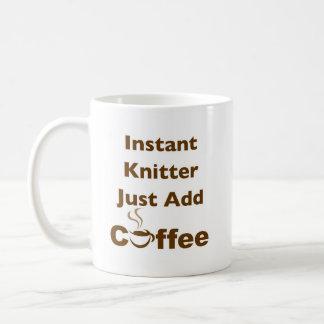 Instant Knitter Basic White Mug