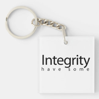 Integrity Double-Sided Square Acrylic Key Ring
