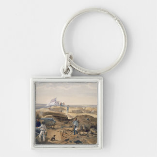 Interior of the Redan, plate from 'The Seat of War Silver-Colored Square Key Ring
