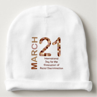 International day for elimination of racism baby beanie