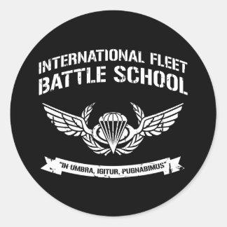 International Fleet Battle School Ender Round Sticker