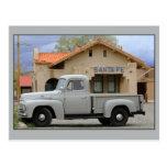 International Harvester L-110 Truck Santa Fe Depot Postcard