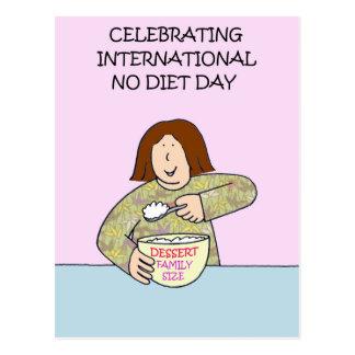 International No Diet Day Postcard