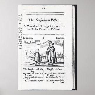 Introduction to 'Orbis Sensualium Pictus' Poster