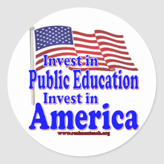 Invest in Public Education Round Sticker