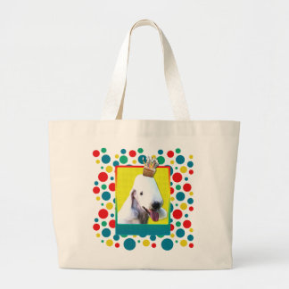 Invitation Cupcake - Bedlington Terrier Jumbo Tote Bag