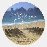 Invitation Seal - Destination Beach Wedding :: 02 Round Sticker