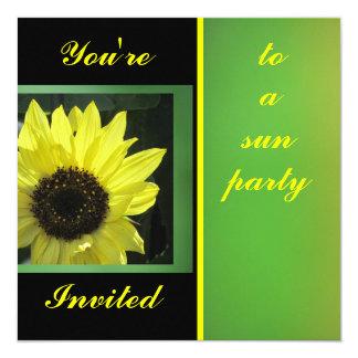 Invitation - Yellow Sunflower - Multipurpose