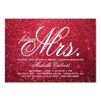 Invite - Cherry Glitter Bridal Shower future Mrs.