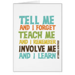 Involve Me Inspirational Quote Note Card