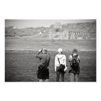 Iona Abbey Tourists Photographic Print