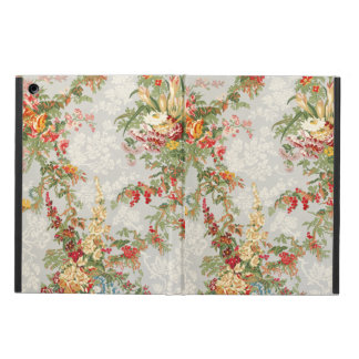 iPad air case with a vintage floral illustration