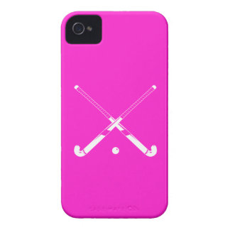 iPhone 4 Field Hockey Silhouette Pink iPhone 4 Cover