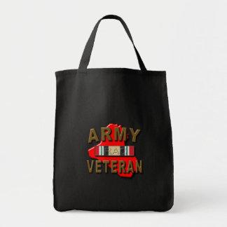 Iraq Veteran Service Ribbon, ARMY Grocery Tote Bag