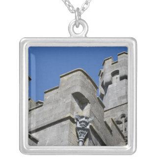 Ireland, County Kilkenny, medieval castle. Square Pendant Necklace
