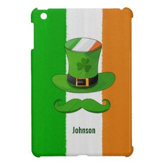 Ireland Flag & Shamrock Leprechaun Hat Mustache Case For The iPad Mini