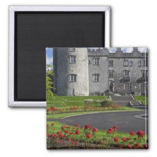 Ireland, Kilkenny. View of Kilkenny Castle. Square Magnet
