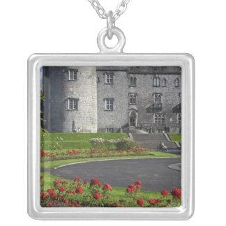 Ireland, Kilkenny. View of Kilkenny Castle. Square Pendant Necklace