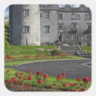 Ireland, Kilkenny. View of Kilkenny Castle. Square Sticker
