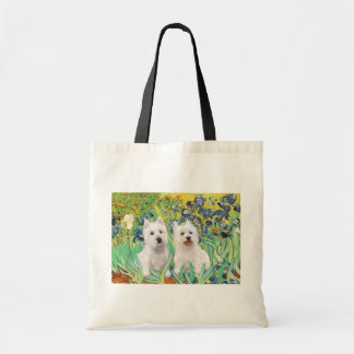 Irises - Two Westies Budget Tote Bag