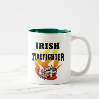 Irish Fire Fighter Two-Tone Mug