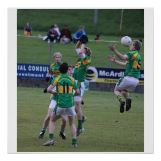 Irish Football, freeze frame. Poster
