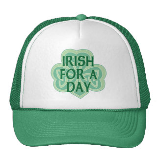 Irish For A Day Celtic Knot Shamrock Cap