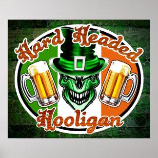 Irish Hooligan Skull: Hard Headed Hooligan 1 Poster