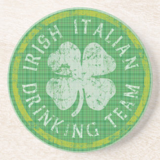 Irish Italian Drinking Team Coaster
