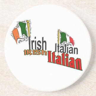 Irish Italian Heritage Drink Coasters