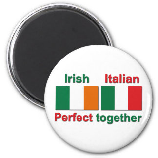 Irish Italian - Perfect Together! 6 Cm Round Magnet